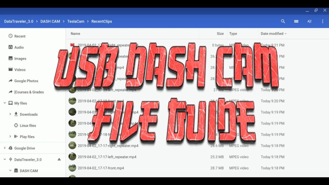 Tesla USB Dash Cam File Guide: Sentry Mode & Front/Side Camera