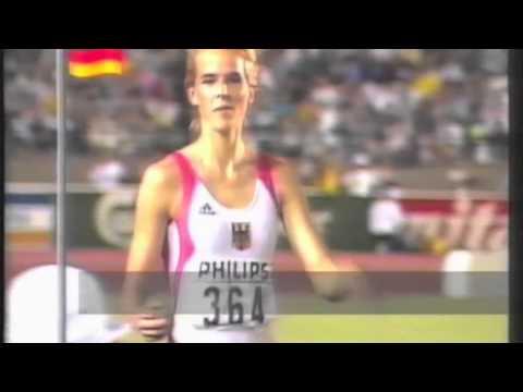 3317 World Track & Field 1991 Long Jump Women Susen Tiedtke