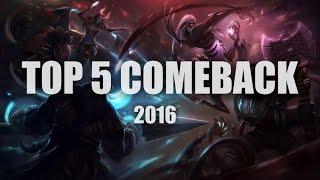 Top 5 Comeback 2016 - Dota 2