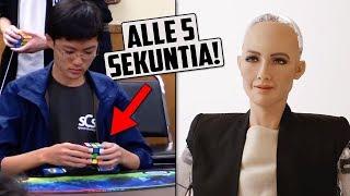Ensimmäinen Kansalaisuuden Saanut Robotti? Uusi Rubikin Kuutio Maailmanennätys!