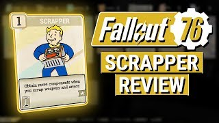FALLOUT 76: How Good Is SCRAPPER?? (Perk Card Review)