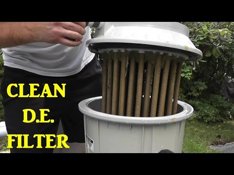 How to Clean a D.E. Pool Filter