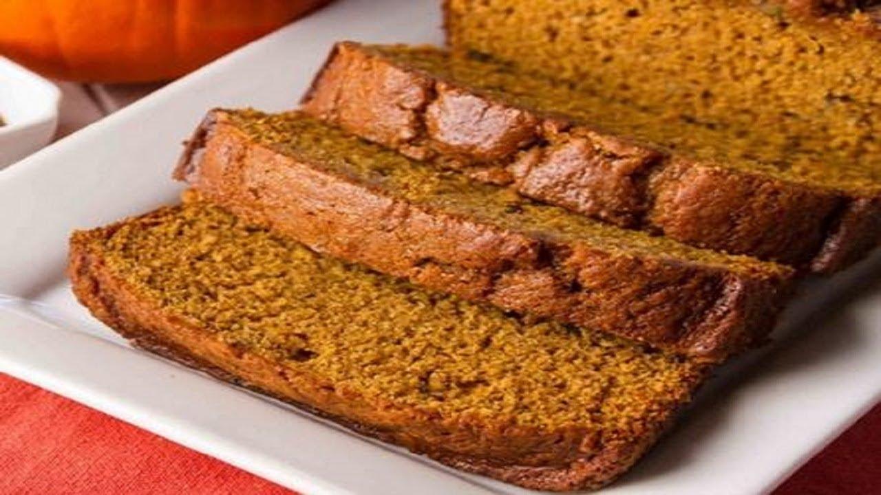 How To Make Pumpkin Bread/Recipe - YouTube