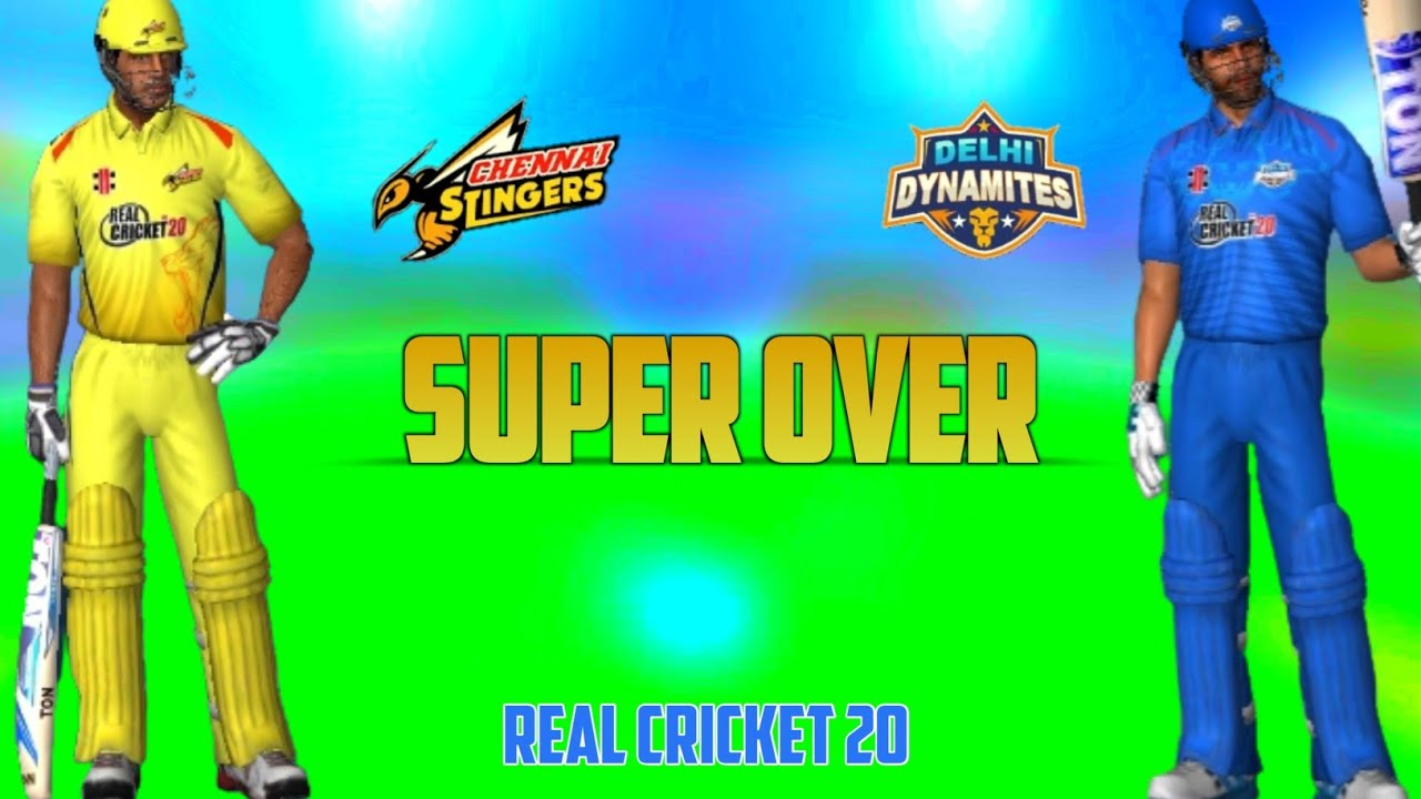 Chennai Super Kings Vs Dehli Capitals || Super Over | Hardcore Mode Real Cricket 20 Gameplay