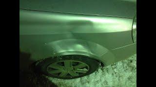 Упала наледь (сосульки) на машину.Часть 2.