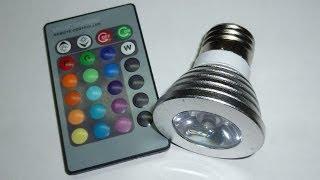 Светодиодная лампа-как средство от...(Можно использовать-как имитацию работы телевизора,когда никого нет дома. Цоколь Е27 Заказывал на Aliexpress:..., 2014-01-17T02:20:08.000Z)