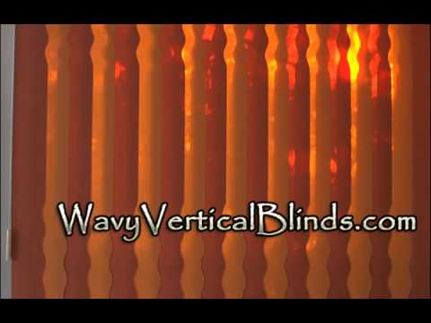 Custom Wavy Vertical Blinds