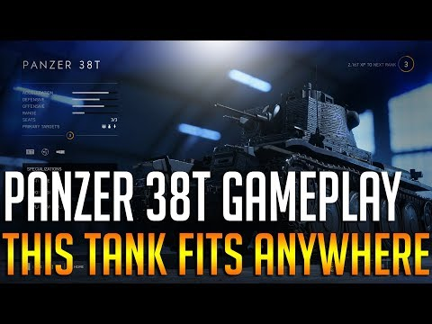 BF5: Panzer 38T fits anywhere! 45-17 - Battlefield 5 tank gameplay on Devestation thumbnail