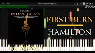 First Burn - Hamilton (Synthesia Piano & Vocal Cover) Mp3
