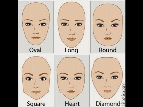 كيف تختارين شكل الحواجب المناسب للوجه البيضاوي الطويل مربع دائري او على شكل قلب Youtube