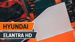 Как се сменят Филтър въздух за вътрешно пространство на HYUNDAI ELANTRA Saloon (HD) - онлайн безплатно видео