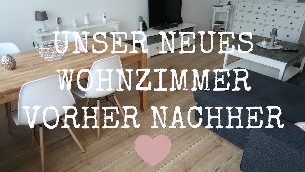 NEUES WOHNZIMMER | Vorher / Nachher | Renovieren statt ...
