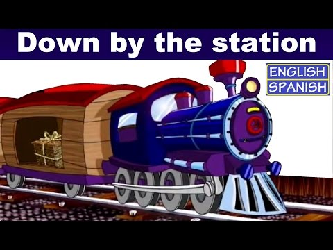 Learning Spanish: DOWN BY THE STATION - with Lyrics