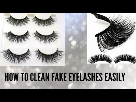 How to clean fake eyelashes easily /reuse eyelashes
