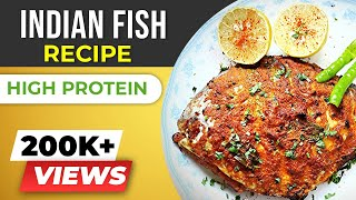 Fish Recipes Indian Style - HEALTHY Fish recipes for WEIGHT LOSS - GRILLED Pomfret recipe