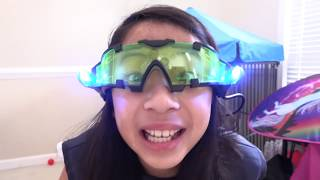 Pretend Play Police Uses New Ultra Vision Glasses