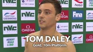 GOLD MEDAL: Tom Daley at the FINA/NVC Diving World Series