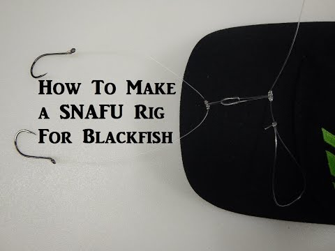How To Tie A Perfect SNAFU Rig For Blackfish