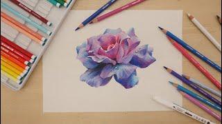 【雄獅色鉛筆】「雄獅色鉛筆」#雄獅色鉛筆,★好美的藍玫瑰!...