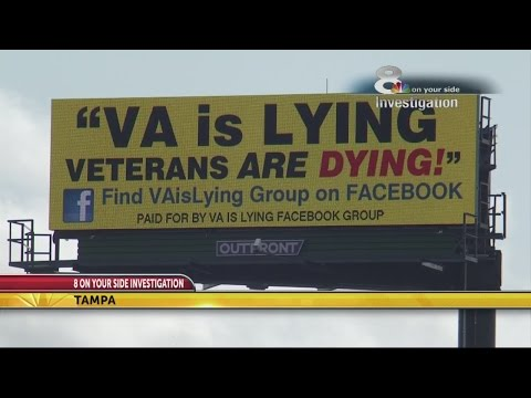 Tampa billboard says Veterans Affairs is lying