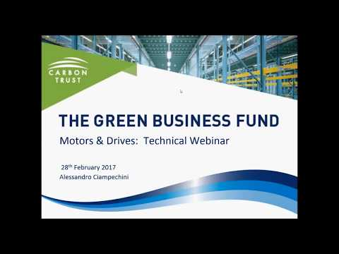 Motors & Drives - Green Business Fund Technology Webinar