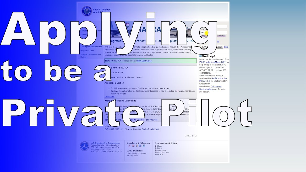 How to fill out IACRA | Private Pilot Application - YouTube