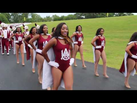 Alabama A&M University Band - Marching into Louis Crews Stadium (2016)