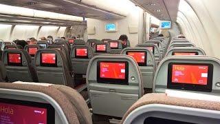Empty Iberia Airbus A340-600 London Heathrow - Madrid (EC-JBA)