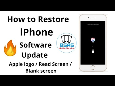 HOW TO Restore iPhone/ Apple logo / Read Screen/ Blank
