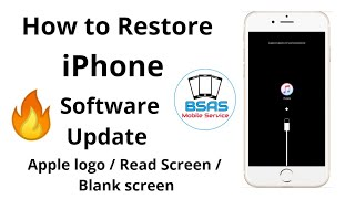 HOW TO Restore iPhone/ Apple logo / Read Screen/ Blank screen/ Update Hindi By Ajay Dhawan BSAS