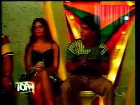 Adriane Galisteu [na época do Meia Soquete] no Programa Raul Gil - TV Record