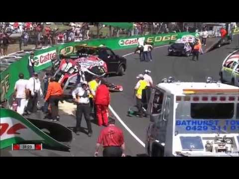 V8 Supercars Bathurst 2014 Practice huge crash Lowndes Luff