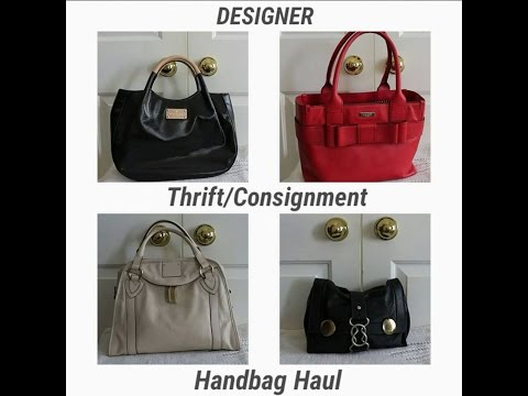 Designer Thrift/Consignment Handbag Haul: Burberry, Chloe', Kate Spade, Marc Jacobs