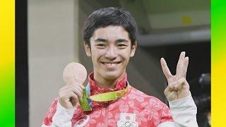 白井健三が銅メダル 32年ぶり、体操男子の種目別跳馬