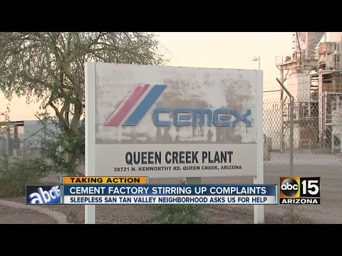 Cement factory stirring up complaints
