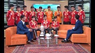 بامدادخوش - ورزشگاه - اعضای تیم ملی فوتبال ۱۴ سال افغانستان همراه با مربی شان دعوت شده اند