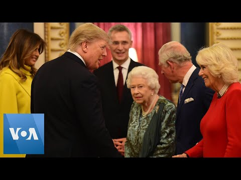 NATO Summit: Queen Elizabeth Hosts US President Trump, First Lady Melania
