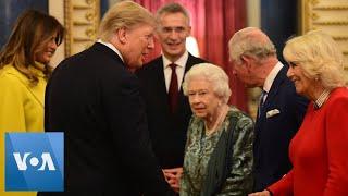 Nato Summit: Queen Elizabeth Hosts Us President Trump, First Lady Melania
