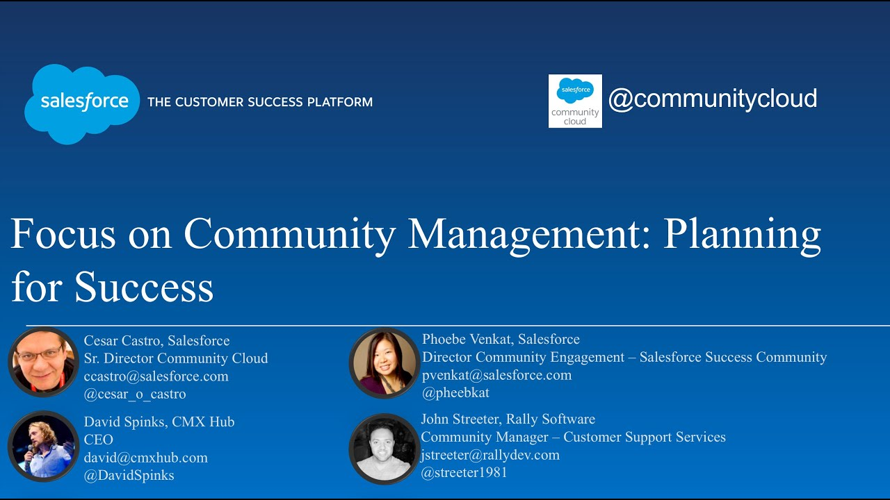 Focus on Community Management: Planning for Success - YouTube
