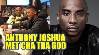 Anthony Joshua meets Charlamagne Tha God | Big Baby pushed out & you got mad?