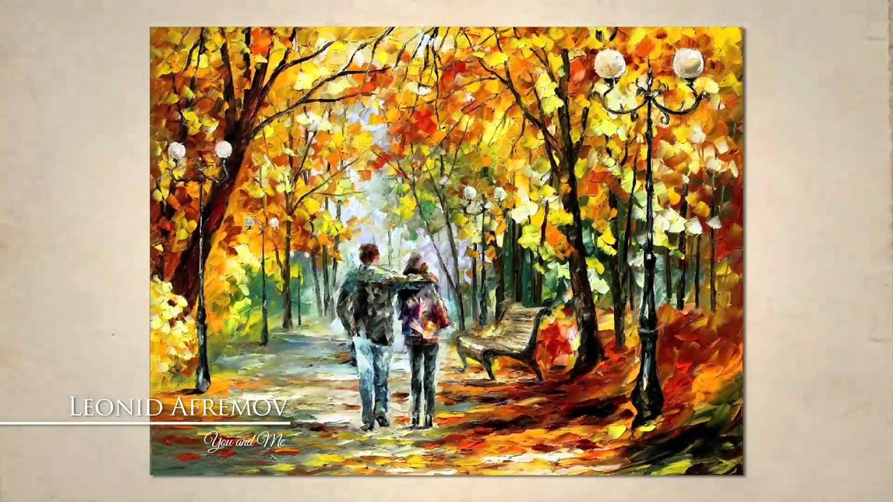 you and me painting come a live by leonid afremov