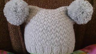 ВЯЗАНИЕ СПИЦАМИ!ДЕТСКАЯ ШАПКА С ПУМПОНАМИ!Knitting(Вязание спицами красивой детской шапки! Шапка связана спицами,в видео я подробно расcкажу как её связать..., 2016-03-28T12:40:09.000Z)