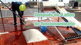 COMO LIMPIAR CALENTADOR SOLAR MANTENIMIENTO PREVENTIVO DESARMAR CALENTADOR SOLAR TUBOS AL VACIÓ