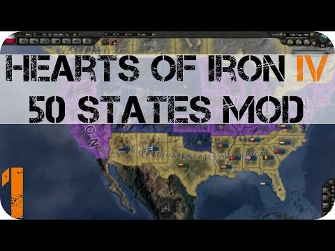 Hearts Of Iron IV: 50 States Mod E1