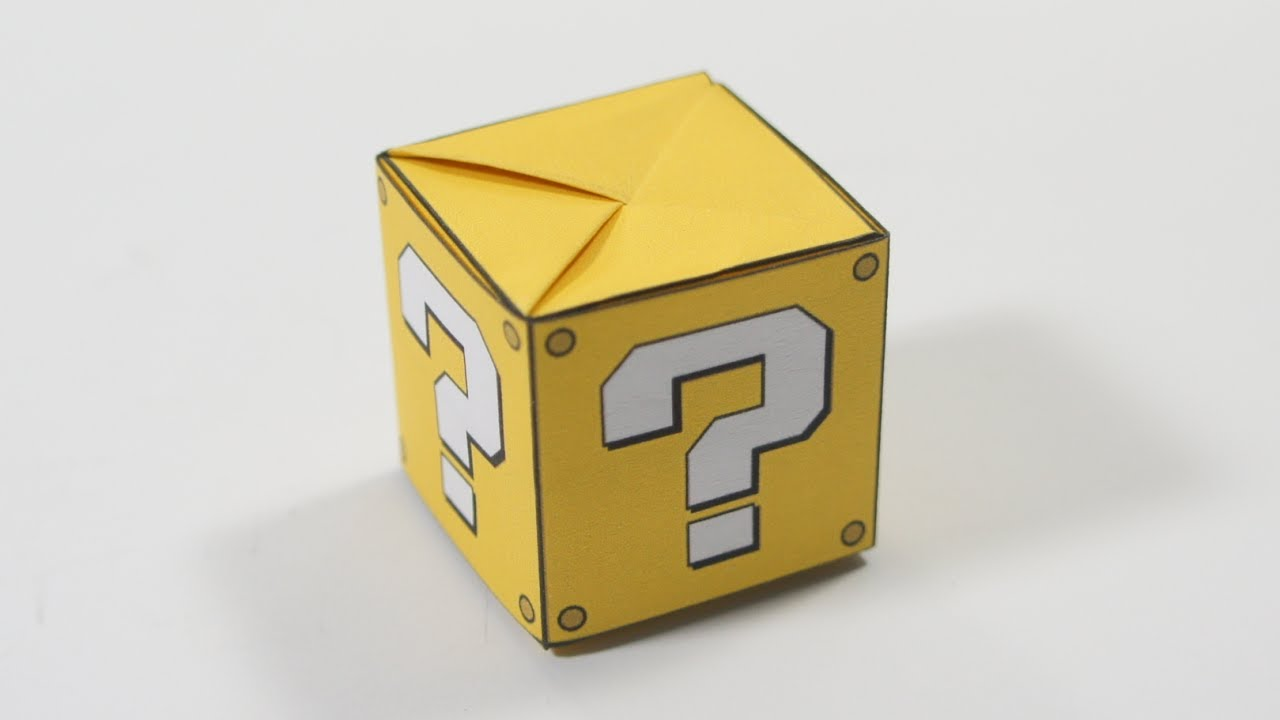 Papercraft Origami Question Mark Box