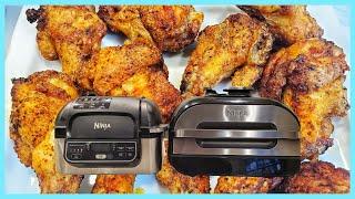 For the CRISPIEST Air Fryer Chicken wings add baking powder | Ninja Foodi Grill Crispy Chicken Wings