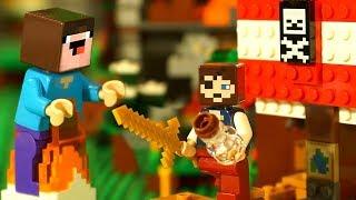 НУБик ПИРАТ ? Борька Девочка ? LEGO Minecraft Мультики и Анимация для Детей