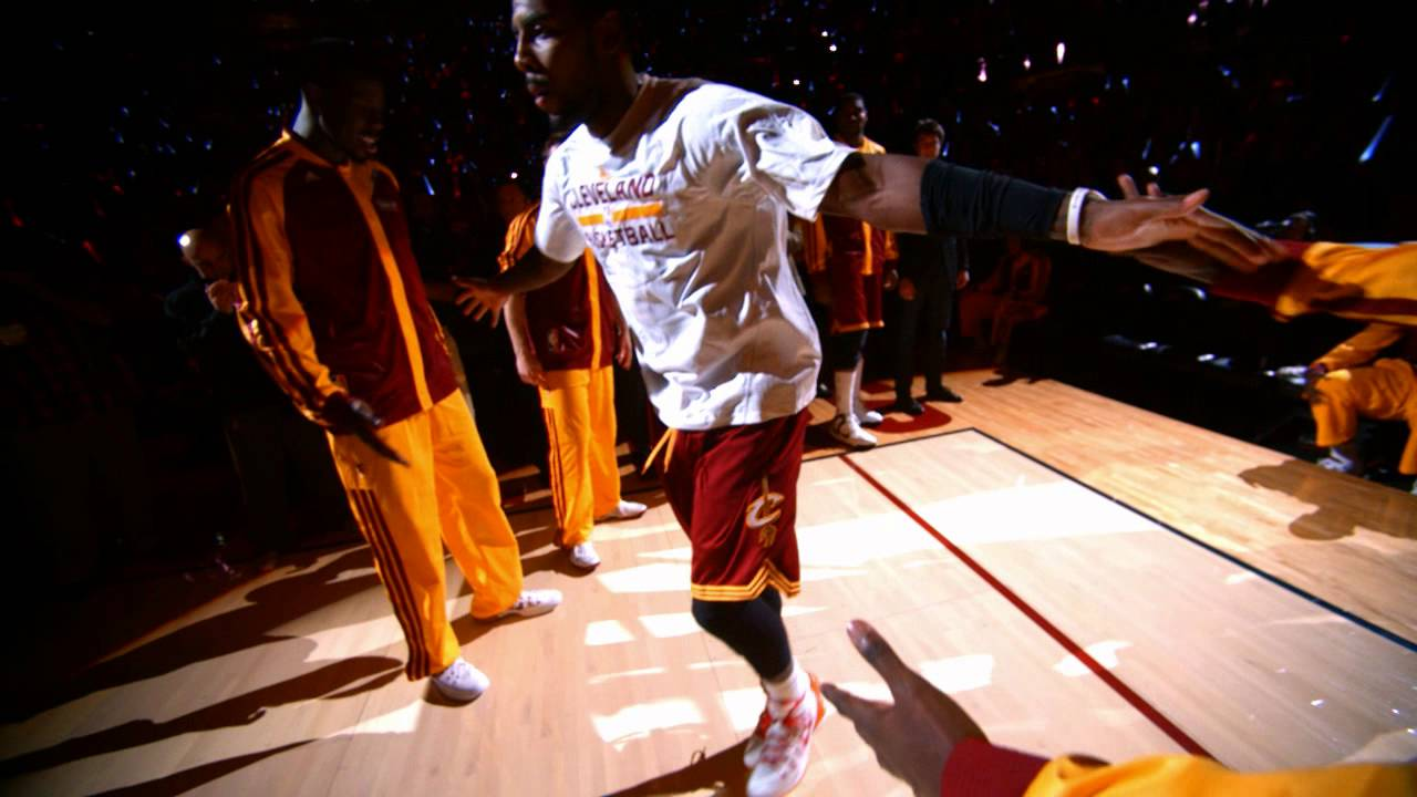 Kyrie Irving's Intro Dance in Slow Motion