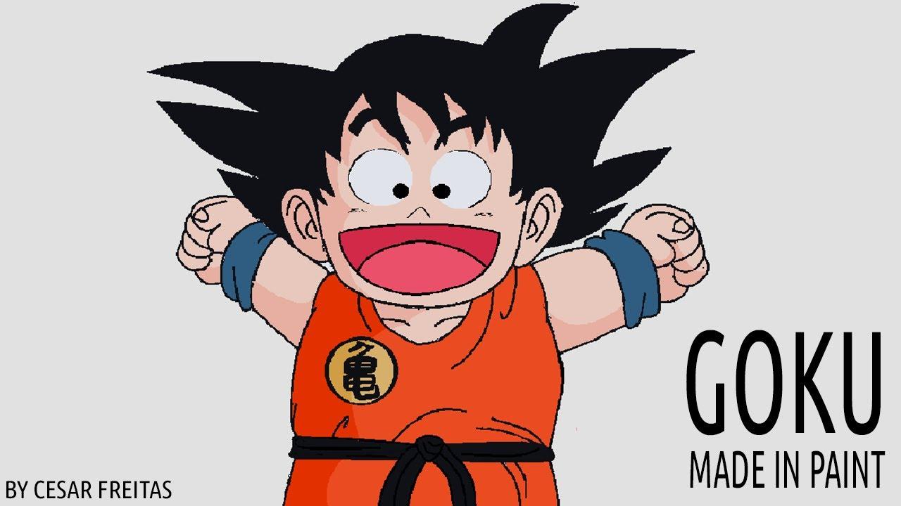 Goku Pequeño Para Colorear: Dibujando Al Pequeño Goku En Paint