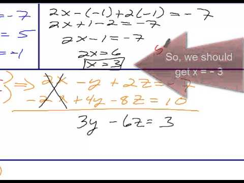 Algebra 2 Chapter 3 Section 4 Solving 3x3 Systems